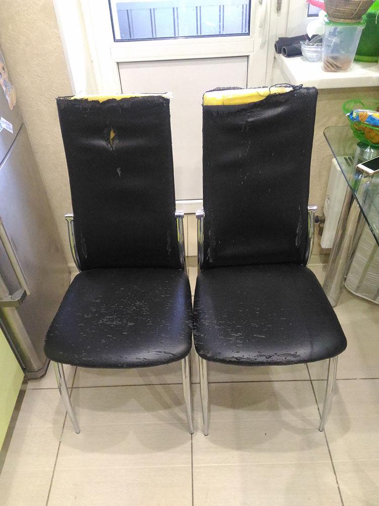 Обивка стульев кожей